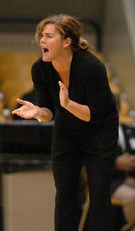 CU coach Kathy McConnell-Miller encourages her team against Southern Utah on Saturday.<br /> <br /> Cliff Grassmick / December 19, 2009