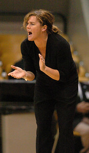 CU coach Kathy McConnell-Miller encourages her team against Southern Utah on Saturday.  Cliff Grassmick / December 19, 2009
