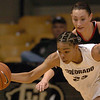 Chucky Jeffery of Colorado gets a steal in front of Chanel Thorley of S. Utah.<br /> <br /> Cliff Grassmick / December 19, 2009