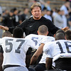 "Greg Brown talks to his defense before the Spring game.<br /> For more photos of the game and a video of the alumni game, go to  <a href=""http://www.dailycamera.com"">http://www.dailycamera.com</a>.<br /> Cliff Grassmick/ April 9, 2011"
