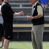 "Joel Klatt and Bill McCartney share a laugh before the Alumni game.<br /> For more photos of the game and a video of the alumni game, go to  <a href=""http://www.dailycamera.com"">http://www.dailycamera.com</a>.<br /> Cliff Grassmick/ April 9, 2011"