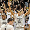 "Andre Roberson of CU  celebrates near the end of the Texas game<br /> For more photos of the game, go to  <a href=""http://www.dailycamera.com"">http://www.dailycamera.com</a><br /> Cliff Grassmick / February 26, 2011"