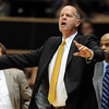"""Colorado head coach, Tad Boyle, instructs his players against Texas Southern,<br /> during the first half of the March 16, 2011 NIT game in Boulder, Colo.<br /> For more photos of the game, go to  <a href=""""http://www.dailycamera.com"""">http://www.dailycamera.com</a>.<br /> Cliff Grassmick / March 16, 2011"""