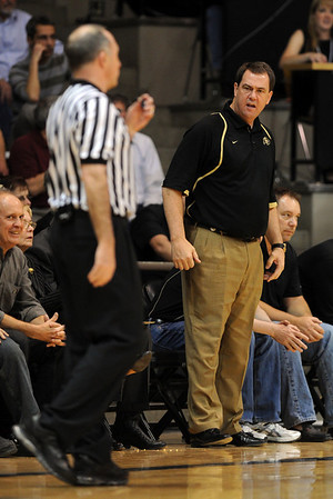 """Colorado Athletic Director, Mike Bohn, isn't happy with the officiating in the CU Texas Southern game.<br /> For more photos of the game, go to  <a href=""""http://www.dailycamera.com"""">http://www.dailycamera.com</a>.<br /> Cliff Grassmick / March 16, 2011"""
