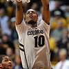 """Alec Burks of CU scores against Texas Southern during the second half of the March 16, 2011 NIT game in Boulder, Colo.<br /> For more photos of the game, go to  <a href=""""http://www.dailycamera.com"""">http://www.dailycamera.com</a>.<br /> Cliff Grassmick / March 16, 2011"""