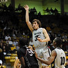 Keegan Hornbuckle of CU goes up for a shot on the Texas Southern defense on Wednesday.<br /> <br /> Cliff Grassmick /November 18, 2009