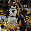 "Dwight Thorne of CU pulls up for a jumper against Texas Southern on Wednesday.<br />  For more photos of the game, go to  <a href=""http://www.dailycamera.com"">http://www.dailycamera.com</a>.<br /> <br /> Cliff Grassmick /November 18, 2009"
