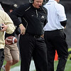 "University of Colorado football coach, Dan Hawkins,   walks the sidelines during the final seconds of the Colorado loss to  Texas Tech, during the  game played in Boulder on October 23. 2010.<br /> For more photos of the game, go to  <a href=""http://www.dailycamera.com"">http://www.dailycamera.com</a>.<br /> Cliff Grassmick / October 23, 2010"
