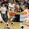 "Brtitney Blythe of CU tries to get past Casey Morris of Texas Tech.<br /> For more photos of the CU game, go to  <a href=""http://www.dailycamera.com"">http://www.dailycamera.com</a>.<br /> Cliff Grassmick / February 12, 2011"
