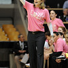 """CU coach Linda Lappe in the Texas Tech game.<br /> For more photos of the CU game, go to  <a href=""""http://www.dailycamera.com"""">http://www.dailycamera.com</a>.<br /> Cliff Grassmick / February 12, 2011"""