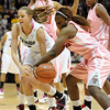 "Julie Seabrook of CU and Christine Hyde of Texas Tech battle for the ball.<br /> For more photos of the CU game, go to  <a href=""http://www.dailycamera.com"">http://www.dailycamera.com</a>.<br /> Cliff Grassmick / February 12, 2011"