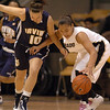 Bianca Smith of CU gets a steal from Lauren Spinazze of UC-Irvine on Sunday.<br /> <br /> Cliff Grassmick /November 15, 2009