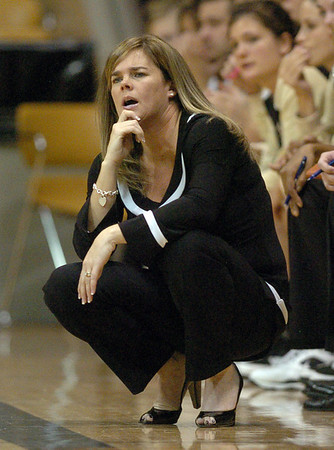 Kathy McConnell-Miller during the first game of the 2009-10 season.<br /> <br /> Cliff Grassmick /November 15, 2009