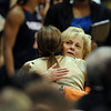 Virginia coach Debbie Ryan hugs her former player, Colorado coach Kathy McConnell-Miller, after Virginia won 74-59.<br /> <br /> Cliff Grassmick / January 2, 2010