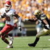 "Washington State's Marquess Wilson speeds past University of Colorado's Brian Lockridge on Saturday, Oct. 1, during a football game  at Folsom Field in Boulder. CU lost the game 31-27. For more photos of the game go to  <a href=""http://www.dailycamera.com"">http://www.dailycamera.com</a><br /> Jeremy Papasso/ Camera"