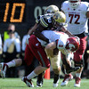 "Brian Lockridge of CU sacks Marshall Lobbestael of WSU.<br /> For more photos of the CU game, go to  <a href=""http://www.dailycamera.com"">http://www.dailycamera.com</a>.<br />  Cliff Grassmick / October 1, 2011"