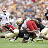 "University of Colorado's Makiri Pugh, No. 16, makes a tackle on Washington State's Leon Brooks on Saturday, Oct. 1, during a football game against Washington State at Folsom Field in Boulder. CU lost the game 31-27. For more photos of the game go to  <a href=""http://www.dailycamera.com"">http://www.dailycamera.com</a><br /> Jeremy Papasso/ Camera"