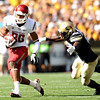 "Washington State's Marquess Wilson runs the ball past  University of Colorado's Brian Lockridge on Saturday, Oct. 1, during a football game against CU at Folsom Field in Boulder. For more photos of the game go to  <a href=""http://www.dailycamera.com"">http://www.dailycamera.com</a><br /> Jeremy Papasso/ Camera"