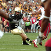 "University of Colorado quarterback Tyler Hansen rushes the ball on Saturday, Oct. 1, during a football game against Washington State at Folsom Field in Boulder. CU lost the game 31-27. For more photos of the game go to  <a href=""http://www.dailycamera.com"">http://www.dailycamera.com</a><br /> Jeremy Papasso/ Camera"