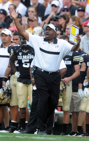 "Colorado head coach Jon Embree had a difficult day during the Washington State game.<br /> For more photos of the game, go to  <a href=""http://www.dailycamera.com"">http://www.dailycamera.com</a><br /> Cliff Grassmick / October 1, 2011, 2011"