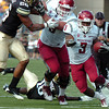 "Washington State's Carl Winston rushes along the sideline on Saturday, Oct. 1, during a football game against the University of Colorado at Folsom Field in Boulder. Washington State won the game 31-27. For more photos of the game go to  <a href=""http://www.dailycamera.com"">http://www.dailycamera.com</a><br /> Jeremy Papasso/ Camera"