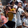 "Carmen Blume, left, of Wyoming, and Amy Barczuk of Colorado, both try to connect on the header on Sunday.<br /> For more  soccer photos, go to  <a href=""http://www.dailycamera.com"">http://www.dailycamera.com</a>.<br /> Cliff Grassmick / August 22, 2010"