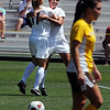 """Kym Lowry of CU is hugged by Erin Bricker (11) after scoring a goal against Wyoming.<br /> For more  soccer photos, go to  <a href=""""http://www.dailycamera.com"""">http://www.dailycamera.com</a>.<br /> Cliff Grassmick / August 22, 2010"""