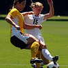 "Ellen McCormick, left, of Wyoming and Hayley Hughes of Colorado, battle for control of the ball.<br /> For more  soccer photos, go to  <a href=""http://www.dailycamera.com"">http://www.dailycamera.com</a>.<br /> Cliff Grassmick / August 22, 2010"