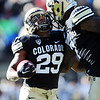 "Josh Foed of CU celebrates his TD run with Toney Clemons.<br /> For more photos of the Buffs, go to  <a href=""http://www.dailycamera.com"">http://www.dailycamera.com</a><br /> Cliff Grassmick / November 12, 2011"