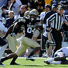 "Keenan Canty of CU takes off with a catch against Arizona.<br /> For more photos of the Buffs, go to  <a href=""http://www.dailycamera.com"">http://www.dailycamera.com</a><br /> Cliff Grassmick / November 12, 2011"
