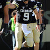 "Tyler Hansen is excited about one of the scores against Arizona on Saturday.<br /> For more photos of the Buffs, go to  <a href=""http://www.dailycamera.com"">http://www.dailycamera.com</a><br /> Cliff Grassmick / November 12, 2011"