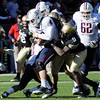 "Chidera Uzo-Diribe of CU helps sack Nick Foles of Arizona on Saturday.<br /> For more photos of the Buffs, go to  <a href=""http://www.dailycamera.com"">http://www.dailycamera.com</a><br /> Cliff Grassmick / November 12, 2011"