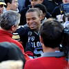 "Rodney Stewart is interviewed after winning the Buffalo Heart Award, given to a senior by the fans.<br /> For more photos of the Buffs, go to  <a href=""http://www.dailycamera.com"">http://www.dailycamera.com</a><br /> Cliff Grassmick / November 12, 2011"