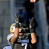 "University of Colorado's Toney Clemons makes a big catch during a game against the University of Arizona on Saturday, Nov. 12, at Folsom Field on the CU campus in Boulder. CU won the game 48-29. For more photos of the game go to  <a href=""http://www.dailycamera.com"">http://www.dailycamera.com</a><br /> Jeremy Papasso/ Camera"