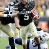 "University of Colorado's Rodney Stewart rushes in for a touchdown in the fourth quarter of the football game against the University of Arizona on Saturday, Nov. 12, at Folsom Field on the CU campus in Boulder. CU won the game 48-29. For more photos of the game go to  <a href=""http://www.dailycamera.com"">http://www.dailycamera.com</a><br /> Jeremy Papasso/ Camera"