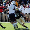 "Will Pericak of CU, zeros in on Nick Foles on Arizona.<br /> For more photos of the Buffs, go to  <a href=""http://www.dailycamera.com"">http://www.dailycamera.com</a><br /> Cliff Grassmick / November 12, 2011"