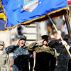"University of Colorado's ROTC cadets salute the flags before the start of the game against the University of Arizona on Saturday, Nov. 12, at Folsom Field on the CU campus in Boulder. CU won the game 48-29. For more photos of the game go to  <a href=""http://www.dailycamera.com"">http://www.dailycamera.com</a><br /> Jeremy Papasso/ Camera"
