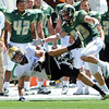 "Travis Sandersfeld  of CU makes an interception for the Buffs<br /> For more photos of the game, go to  <a href=""http://www.dailycamera.com"">http://www.dailycamera.com</a><br /> Cliff Grassmick / September 4, 2010"