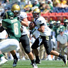 "Tyler Hansen of CU looks to throw against CSU.<br /> For more  photos of the game, go to  <a href=""http://www.dailycamera.com"">http://www.dailycamera.com</a><br /> Cliff Grassmick / September 4, 2010"