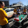 """Craig Franzoi, left, plays a ball  beer game with his CU Buff friends before the game.<br />  For more photos of the game, go to  <a href=""""http://www.dailycamera.com"""">http://www.dailycamera.com</a>.<br /> Cliff Grassmick / September 4, 2010"""