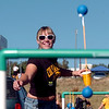 """Astrid Vander, a CU student and football fan, plays a one of the tailgating games outside Invesco Field.<br /> For more photos of the game, go to  <a href=""""http://www.dailycamera.com"""">http://www.dailycamera.com</a>.<br /> Cliff Grassmick / September 4, 2010"""