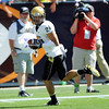 """Scotty McKnight walks in for a touchdown that breaks the all-time reception record for CU.<br /> For more photos of the game, go to  <a href=""""http://www.dailycamera.com"""">http://www.dailycamera.com</a><br /> Cliff Grassmick / September 4, 2010"""
