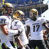 "Travon Patterson (2) of CU, celebrates a TD with Scotty McKnight and Toney Clemons(17).<br /> For more  photos of the game, go to  <a href=""http://www.dailycamera.com"">http://www.dailycamera.com</a><br /> Cliff Grassmick / September 4, 2010"
