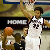 Colorado guard Cory Higgins (11) fakes out Gonzaga guard Steven Gray (32) during their game in the Maui Invitational NCAA college basketball tournament at the Lahaina Civic Center in Lahaina, Hawaii on Monday Nov. 23, 2009.  (AP Photo/Eugene Tanner)