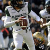 University of Colorado linebacker B.J. Beatty sacks Hawaii quarterback Bryant Monlz on Saturday, Sept. 18, during the football game against the University of Hawaii at Folsom Field. CU defeated Hawaii 31-13.<br /> Jeremy Papasso/ The Camera