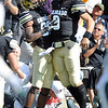 """Paul Richardson, left, and Tyler Hansen of CU, celebrate their hook up on a 2-point conversion against Hawaii.<br /> For more photos from the game, go to  <a href=""""http://www.dailycamera.com"""">http://www.dailycamera.com</a>.<br />  Cliff Grassmick / September 18, 2010"""