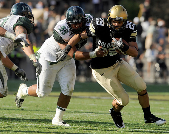 on Saturday, Sept. 18, during the football game against the University of Hawaii at Folsom Field. CU defeated Hawaii 31-13.<br /> Jeremy Papasso/ The Camera