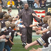 "Former CU great Alfred Williams is honored at half time, including going down two lines of #94.<br /> For more photos from the game, go to  <a href=""http://www.dailycamera.com"">http://www.dailycamera.com</a>.<br />  Cliff Grassmick / September 18, 2010"