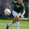 "Keeper Annie Brunner of CU follows the ball at the goal.<br /> For more photos of the game, go to  <a href=""http://www.dailycamera.com"">http://www.dailycamera.com</a>.<br /> Cliff Grassmick / August 29, 2010"