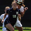 "Ariel Cook, left, of UNC, and Kym Lowry of CU, go for the header.<br /> For more photos of the game, go to  <a href=""http://www.dailycamera.com"">http://www.dailycamera.com</a>.<br /> Cliff Grassmick / August 29, 2010"